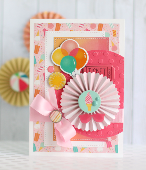"A sweet ""Summer Dreams"" card by Anya Lunchenko for #CartaBellaPaper"