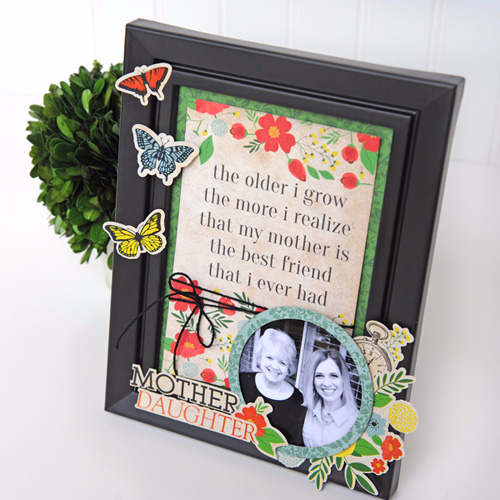 Our Family Mother Daughter Frame by Jana Eubank for #CartaBellaPaper
