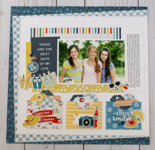 "Summer layout by Anya Lunchenko featuring the ""Good Day Sunshine"" collection by #EchoParkPaper"