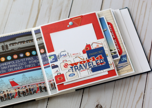 "Travel Mini Album by Anya Lunchenko featuring the ""Passport"" collection by #CartaBellaPaper"