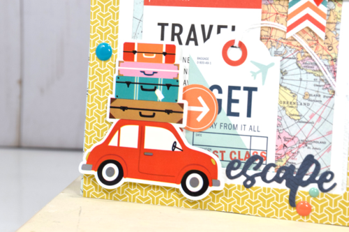"Travel card by Tya Smith featuring the ""Pack Your Bags"" collection by #CartaBellaPaper"