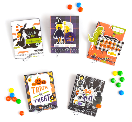 "Halloween Treat Holders by Tya Smith with the ""Hocus Pocus"" collection by #EchoParkPaper"