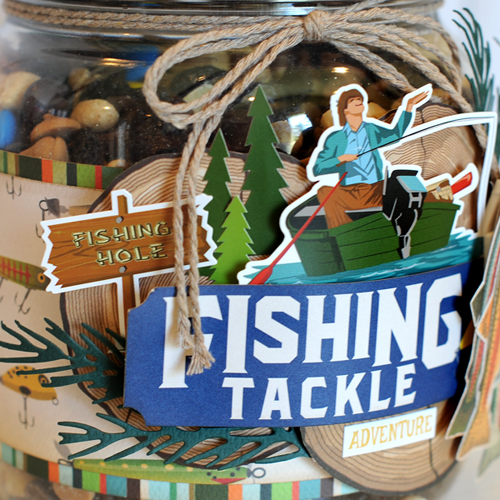"Camping Trail Mix Jar Gift by Jana Eubank featuring the ""Gone Camping"" Collection by  #CartaBellaPaper"