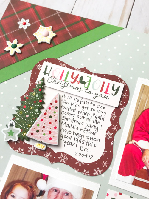 """Holly Jolly Christmas Layout by Tya Smith featuring the """"Merry & Bright"""" collection by #EchoParkPaper"""