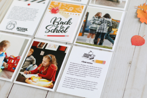 """Back to School"" Pocket Page by Anya Lunchenko for #EchoParkPaper"