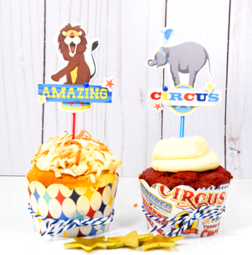 "Circus Party set by Tya Smith with the ""Circus"" collection by #CartaBellaPaper"