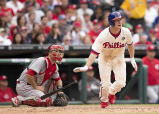 Cody Asche Mitchell Leff Getty Images