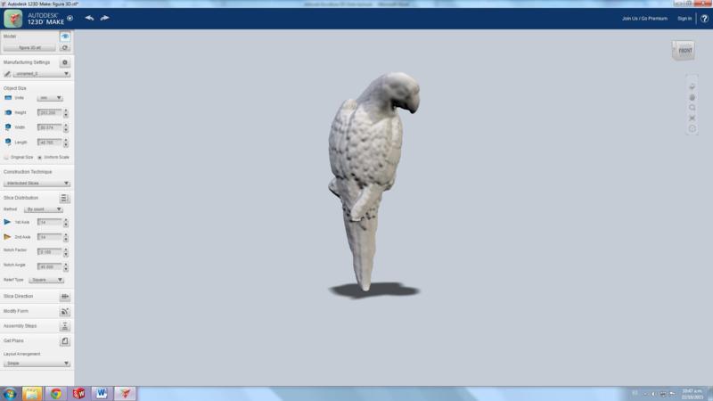 Guacamaya 3D por estudiantes de la Konrad Lorenz