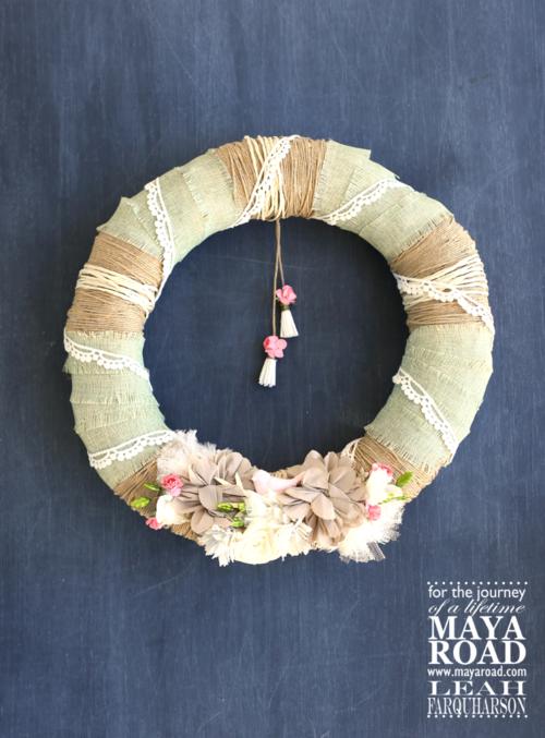 Leah farquharson maya road wreath