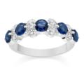 Diamond and Blue Sapphire Wedding Ring - �799