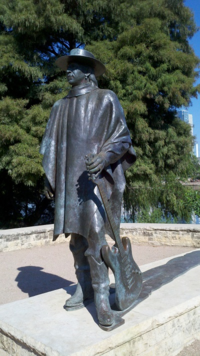 Statue of Stevie Ray Vaughan in Austin, Texas