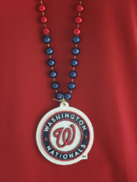 I wear these beads with pride when I attend a Nationals game