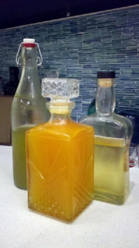 My cellos -- calce (lime), aran (orange), and limon (lemon)