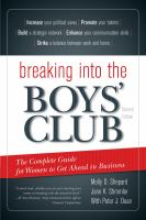 Breaking Into The Boys Club