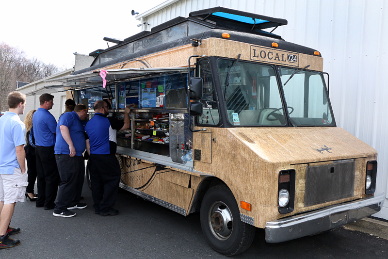 Local 724 Cruzin'Cuisine Food Truck visits Smail Dealerships.