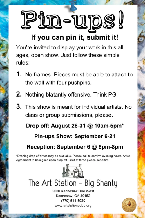 Call for Artists Pinups 2018