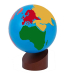 : Montessori Globe - World Parts