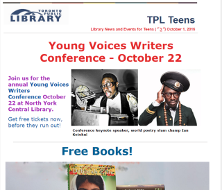 October Teen Newsletter
