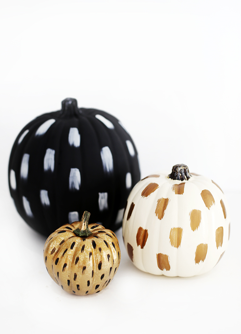 DIY brushstroke pumpkin