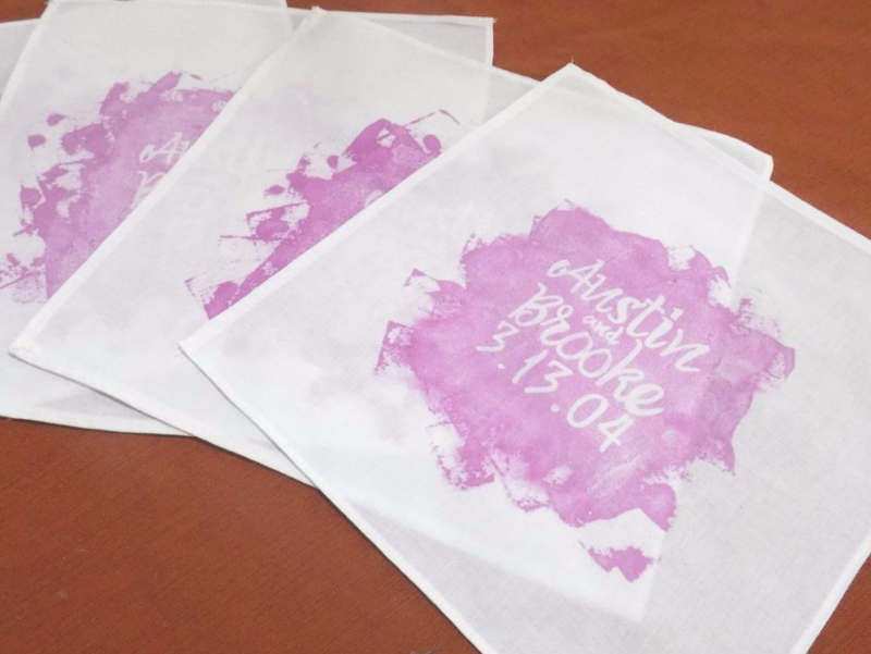 handkerchief wedding program from Instrucables