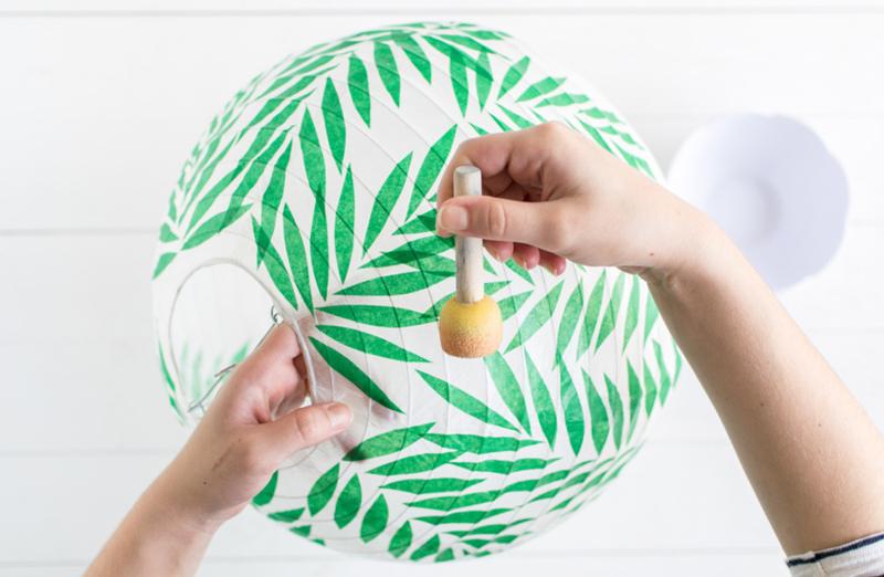 Leafy Paper Lantern