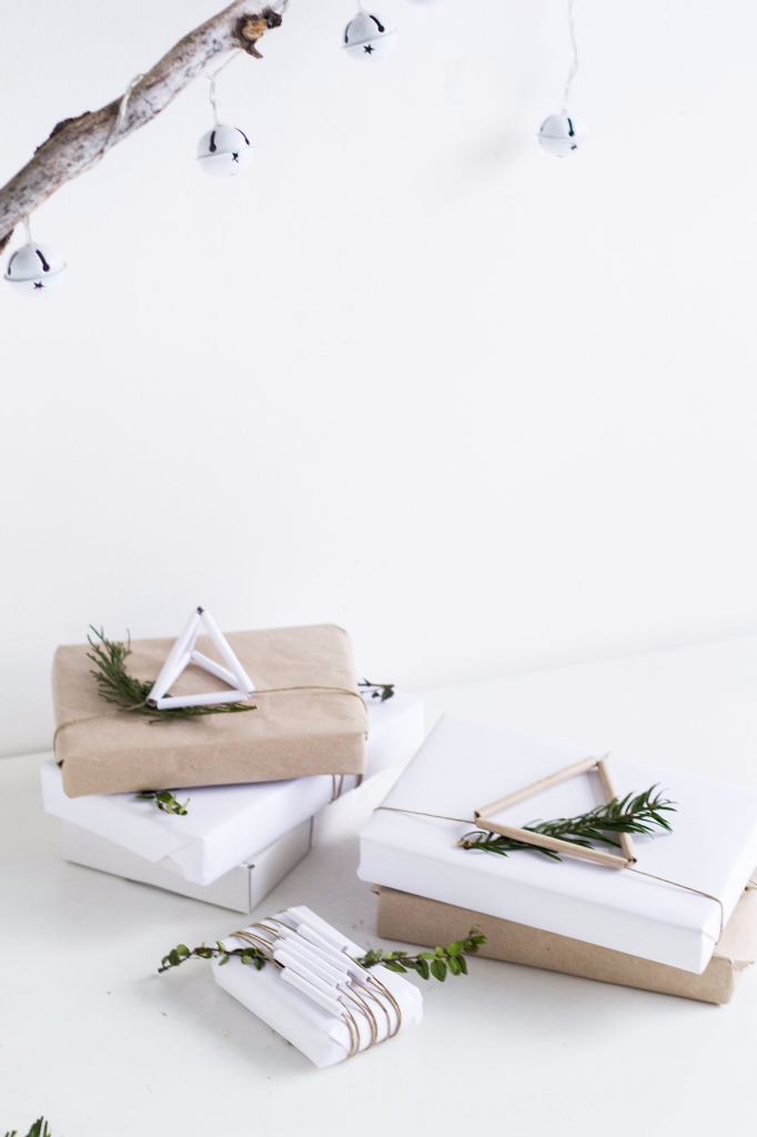 paper straw gift wrap toppers