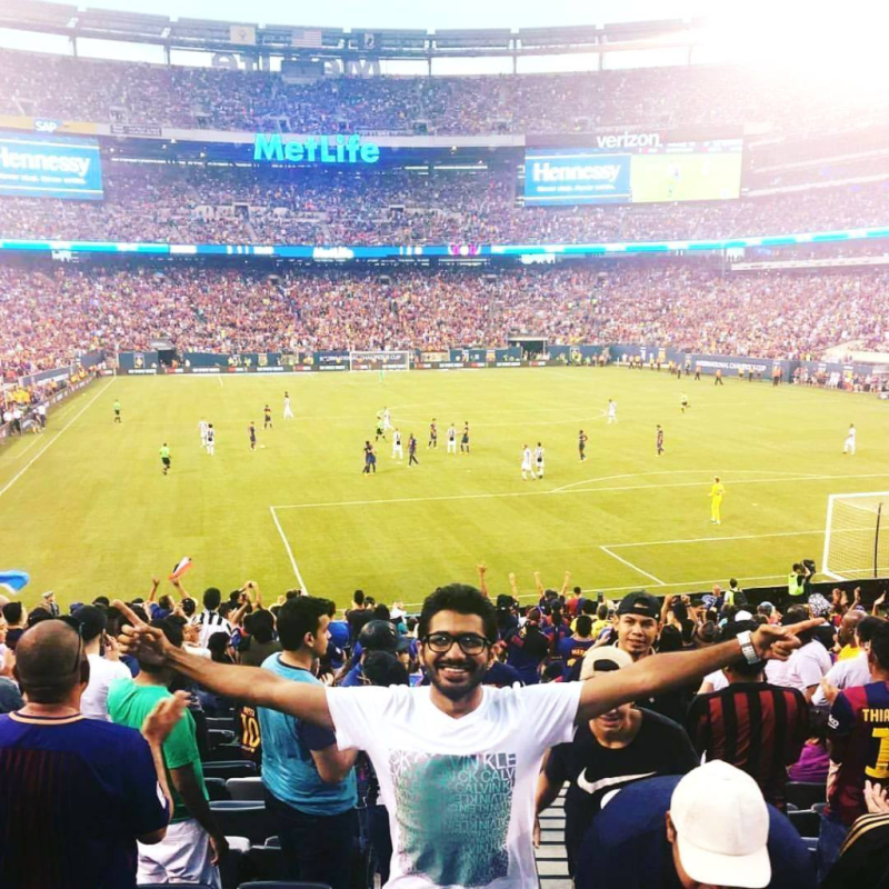 Irfan Barcelona Match