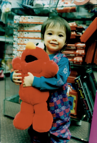 Elmo and child