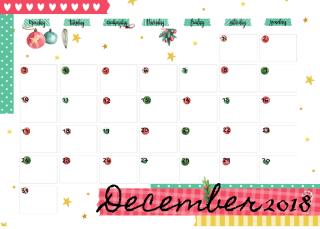 Cute-December-2018-Calendar-Printable